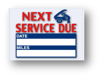 Car Service Reminder Stickers
