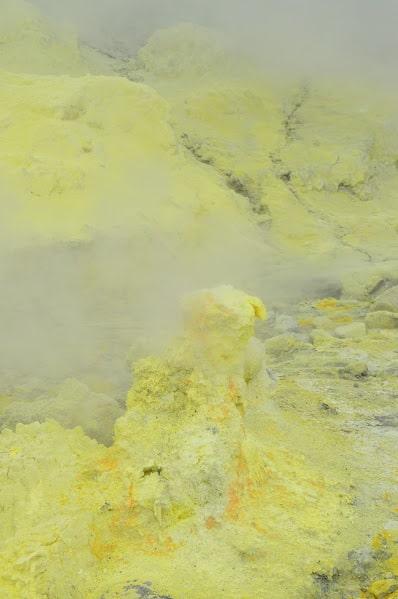 Sulphur made us cough a lot!