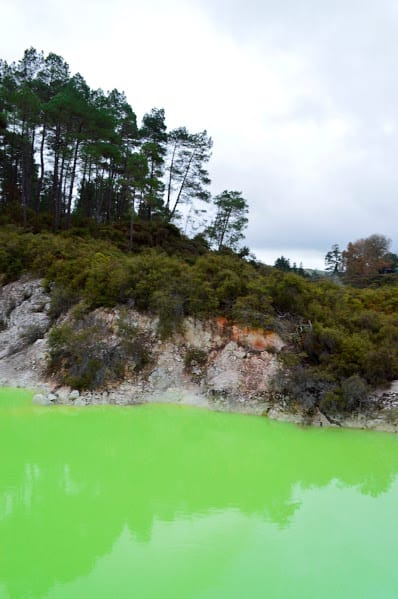 The Devils Bath, yes it really is that green!