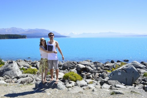 Us as close as we got to Mt Cook