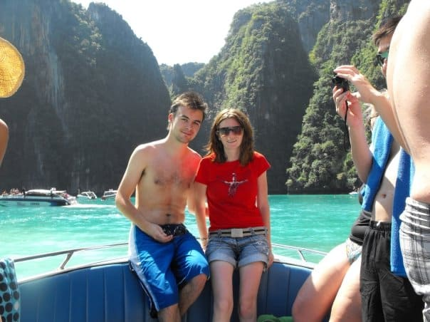 Us on our first adventure in Asia in 2009