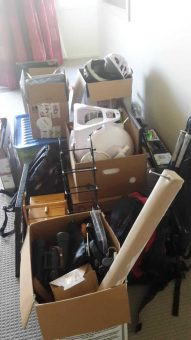 The first car load of items we moved into our Motorhome